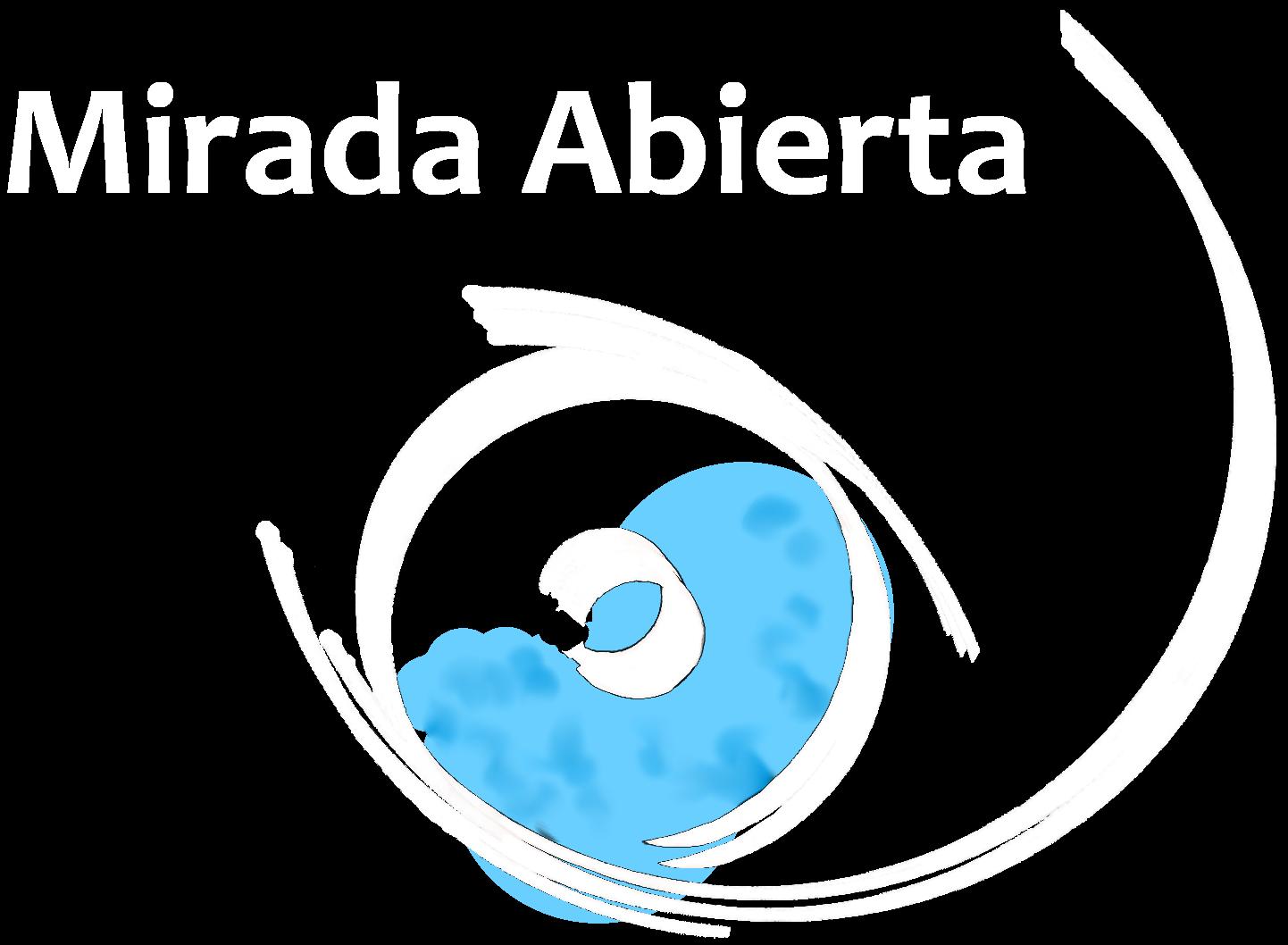 Mirada Abierta Ícono Blanco